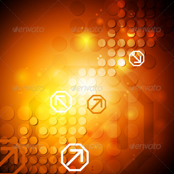 GraphicRiver Bright Hi-Tech Vector Background 5178301