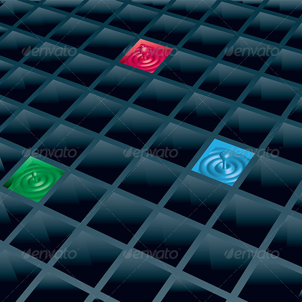 GraphicRiver Cells with Color Drops 5178312