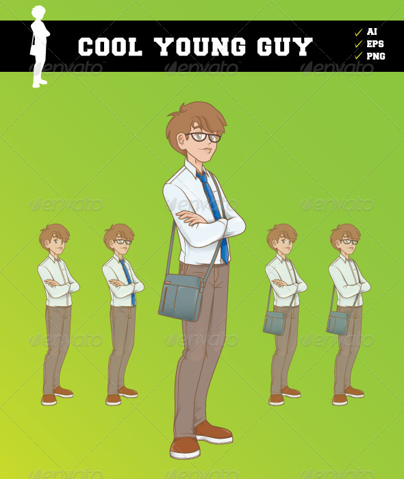 GraphicRiver Cool Young Guy 5178338