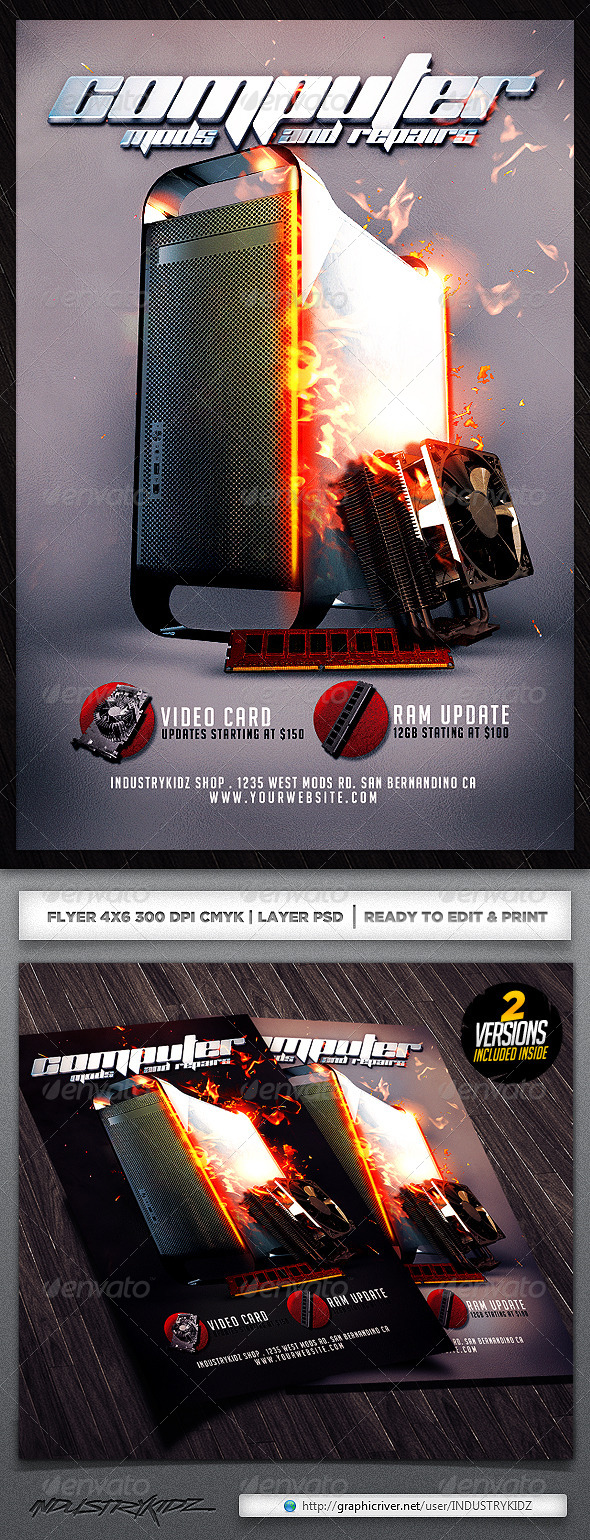 GraphicRiver Computer Flyer Template 5178384