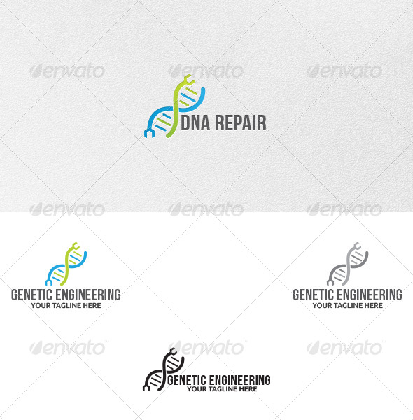 GraphicRiver Genetic Engineering Logo Template 5178628