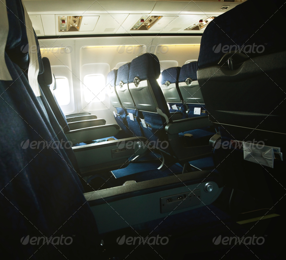 In aircraft - Stock Photo - Images