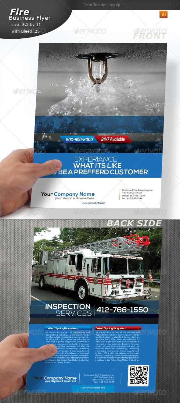Fire Alert Flyer
