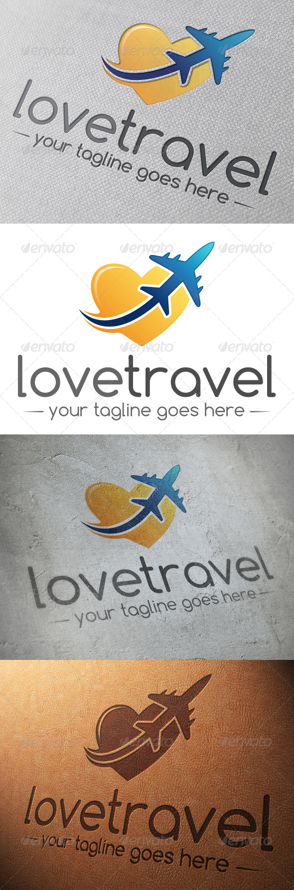 GraphicRiver Love Travel Logo Template 5178852