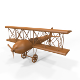 Carved Wooden Airplane Model and Base Mesh - 3DOcean Item for Sale