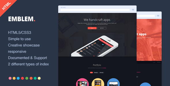 Emblem - Responsive One Page HTML Template