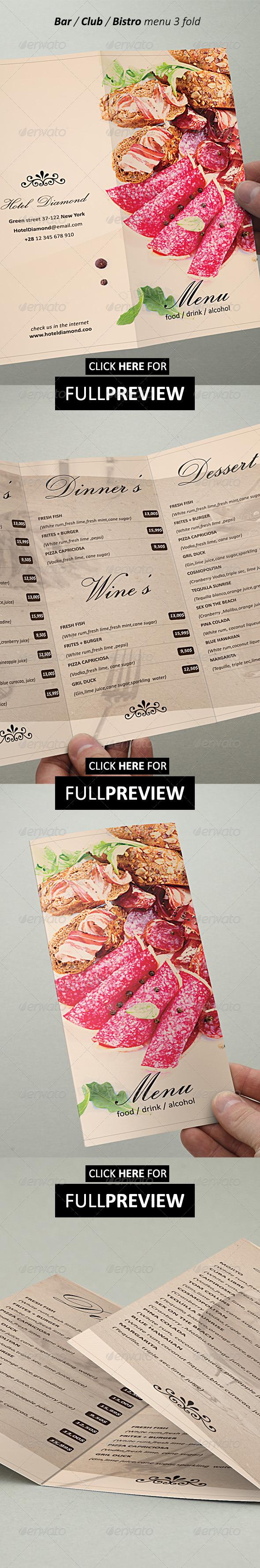 GraphicRiver Restaurant Menu Brochure 3 Fold 5179521