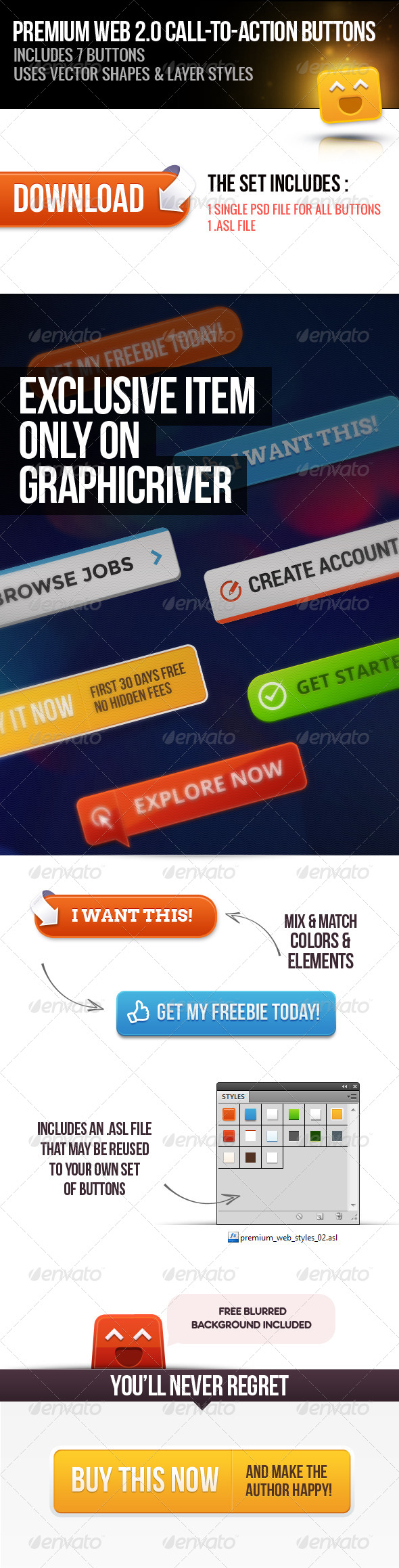 GraphicRiver Premium Web 2.0 Call to Action Buttons 02 5179546
