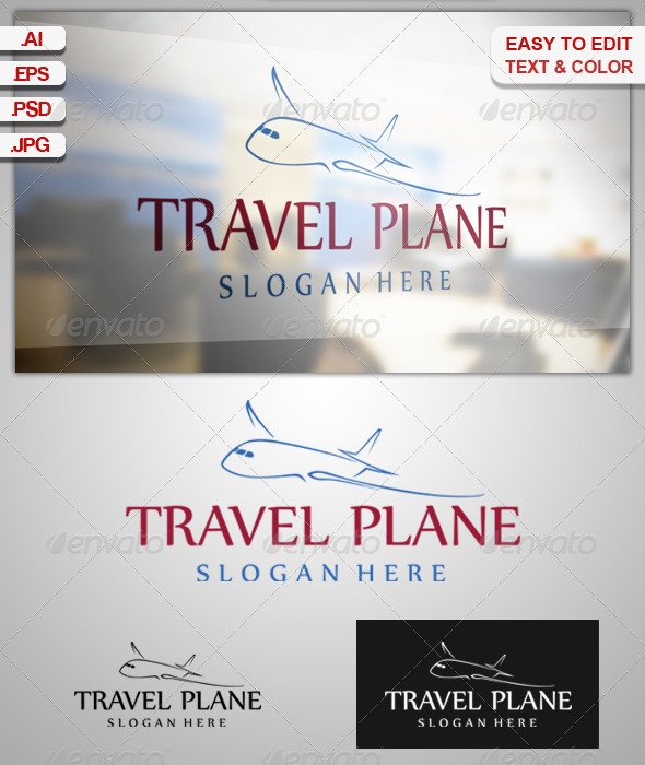 GraphicRiver Travel Plane logo 5179616