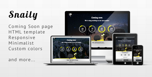 Snaily - Coming Soon HTML Template (Under Construction)