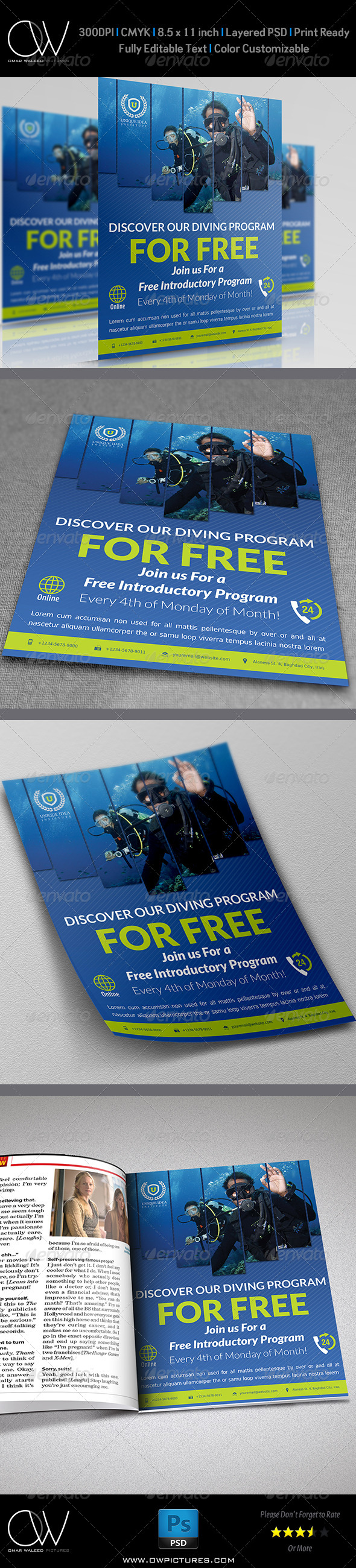 GraphicRiver Diving Flyer 5179998