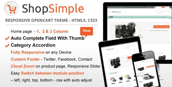 ShopSimple – Responsive OpenCart theme