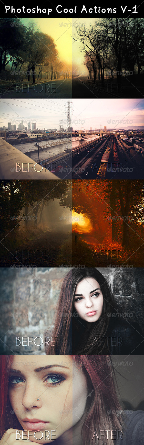 8 Great Actions for each photo - Actions Photoshop