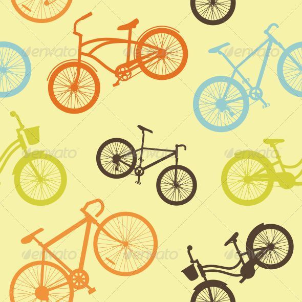GraphicRiver Bicycle Seamless Pattern 5180164