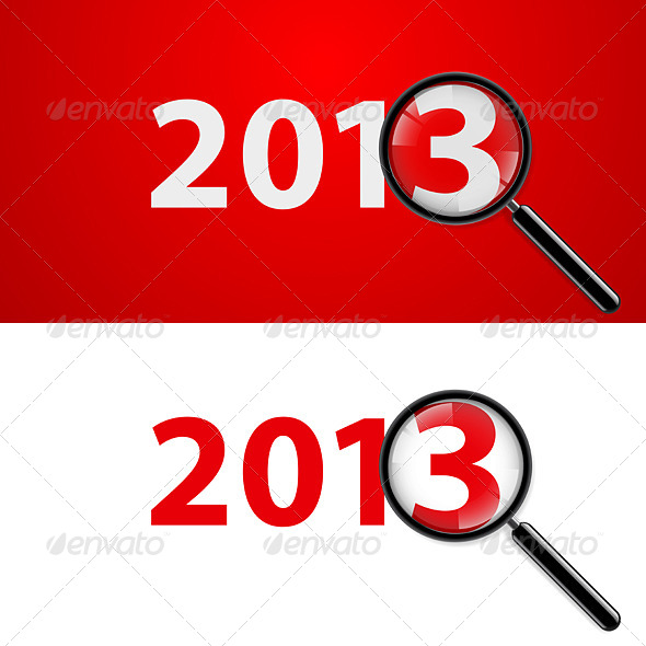 GraphicRiver Magnifying Glass and New Year 5180294