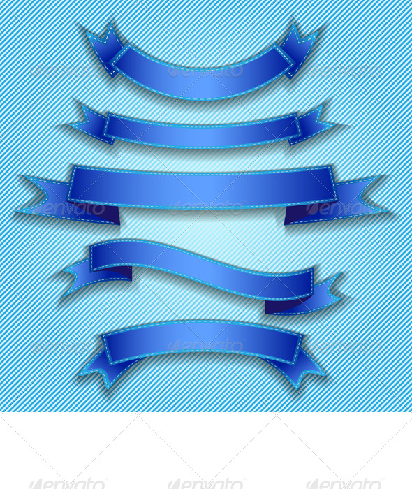 GraphicRiver Blue Ribbons 5180309