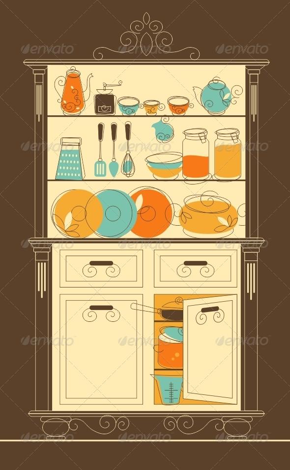 GraphicRiver Kitchen Cupboard 5180441