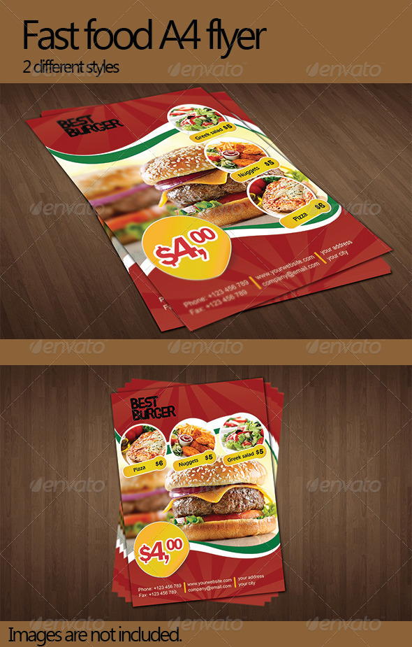 GraphicRiver Fast Food Flyer 5110811