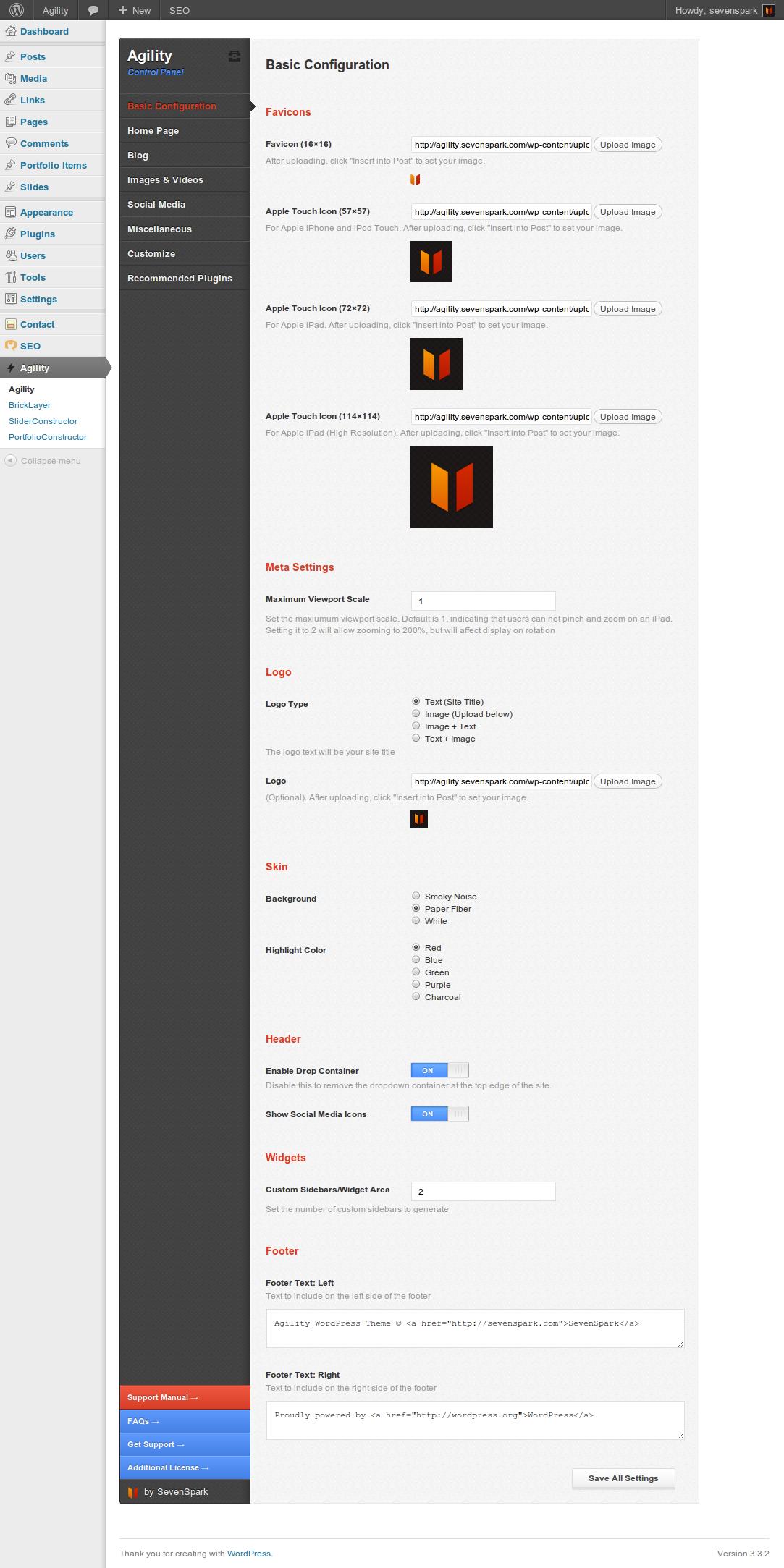 Agility - Responsive HTML5 WordPress Theme