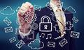 Secured Cloud Computing Concept - PhotoDune Item for Sale
