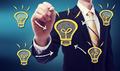 Business Man with Idea Lightbulb - PhotoDune Item for Sale