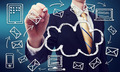 Businessman with cloud computing concept - PhotoDune Item for Sale