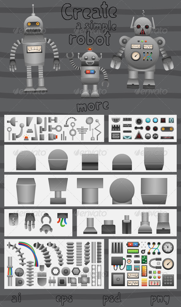 GraphicRiver Create a Simple Robot 5181008
