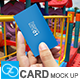 Gstudio Photorealistic Card Mock-Up 01 - GraphicRiver Item for Sale