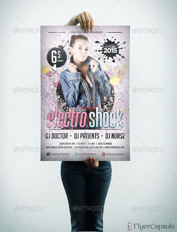 GraphicRiver Electro Shock Flyer Template 5021440