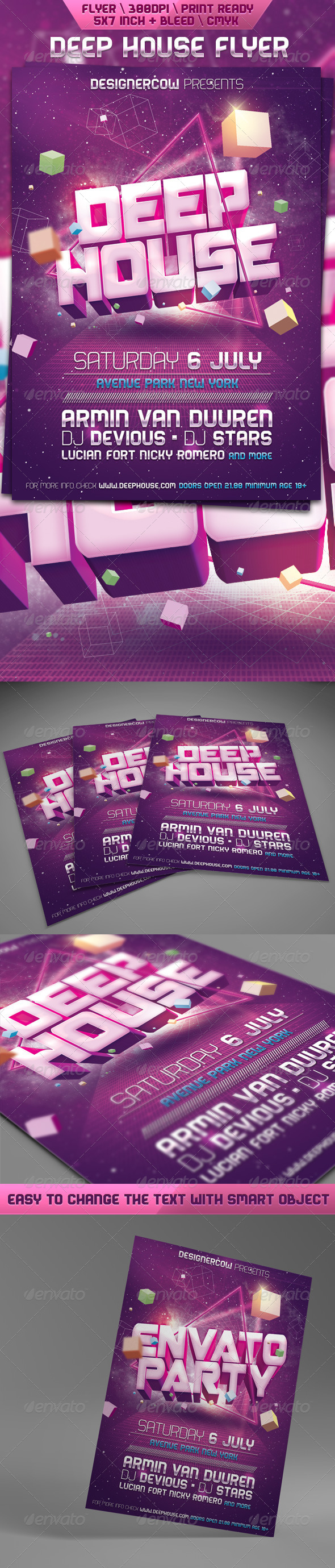 GraphicRiver Deep House Flyer 5181227