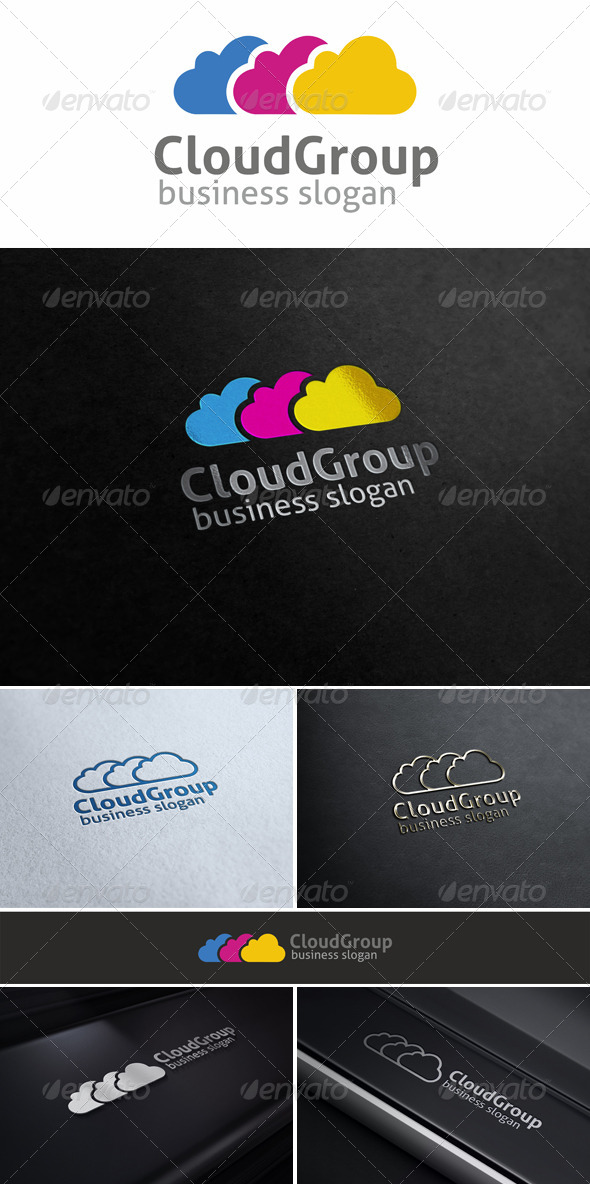 GraphicRiver Cloud Group Logo Template 5181389