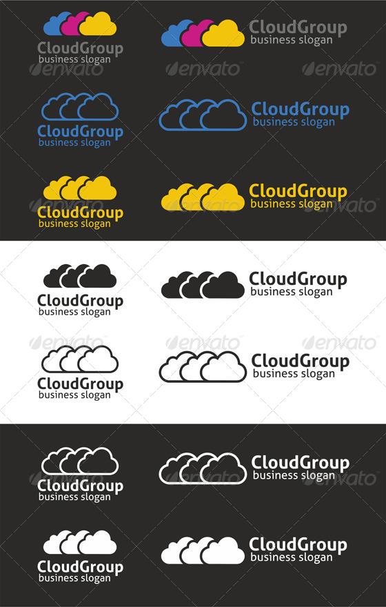 Cloud Group Logo Template