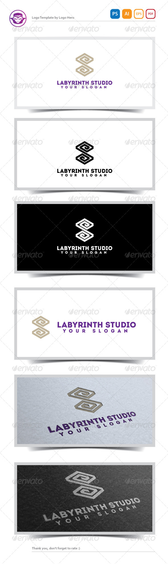 GraphicRiver Labyrinth Studio Logo Template 5181862
