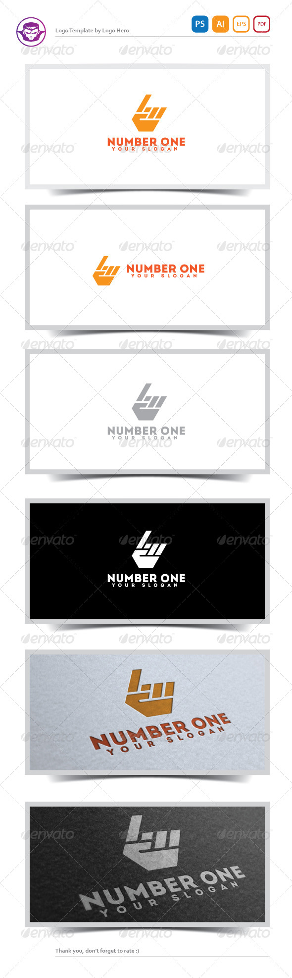 GraphicRiver Number One Logo Template 5181864
