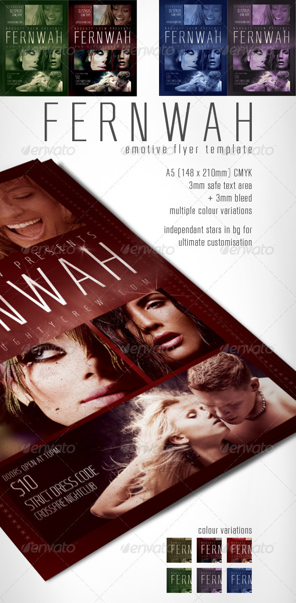 Fernwah Emotive Flyer Template - Clubs & Parties Events