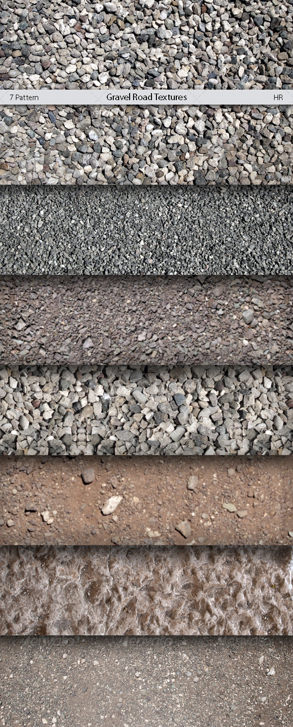 GraphicRiver Gravel Road Patterns 5181947