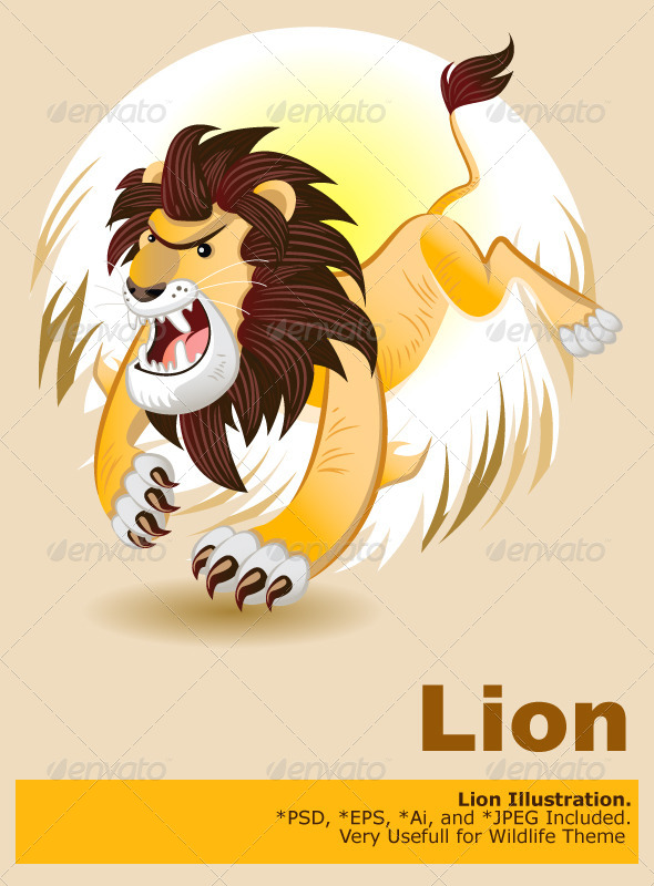 GraphicRiver Lion King of Beast 5182079
