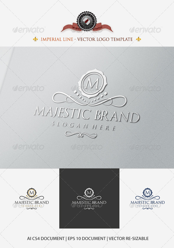 Majestic Brand Logo Template - Crests Logo Templates