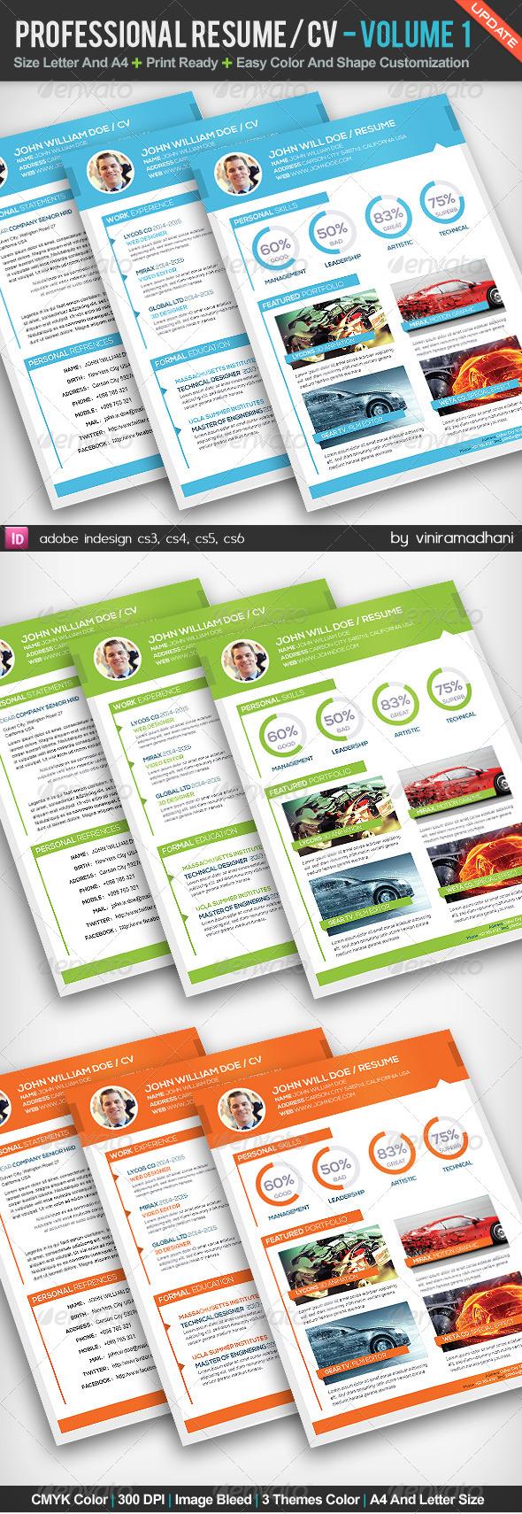 GraphicRiver Professional Resume CV Volume 1 5182283