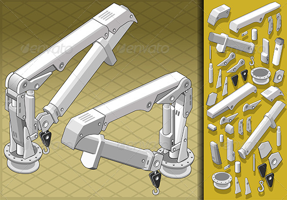 GraphicRiver Isometric Mechanical Arm in Two Positions 5182920