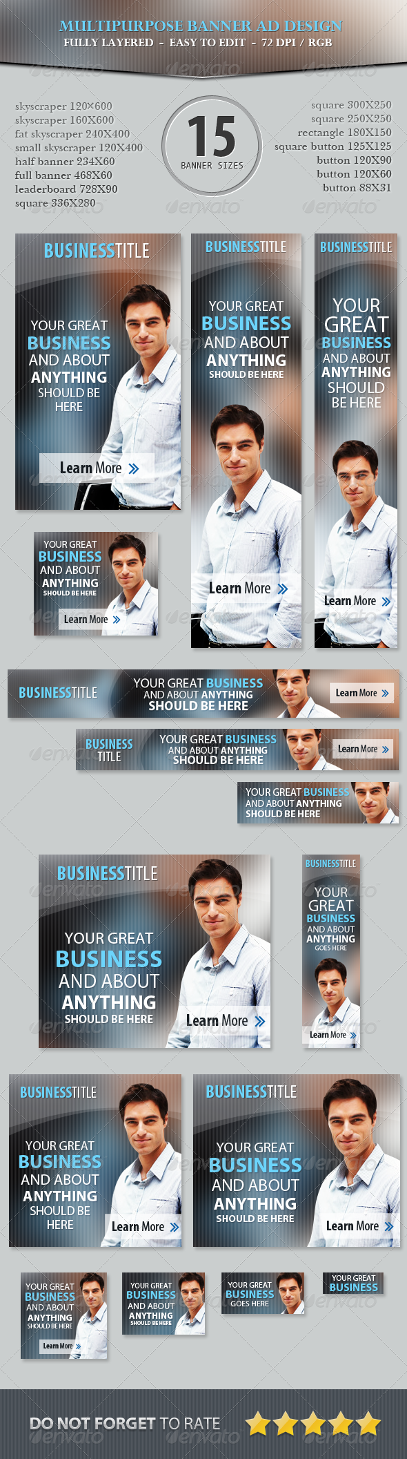 GraphicRiver Multipurpose Business Banner ad Design 5183255