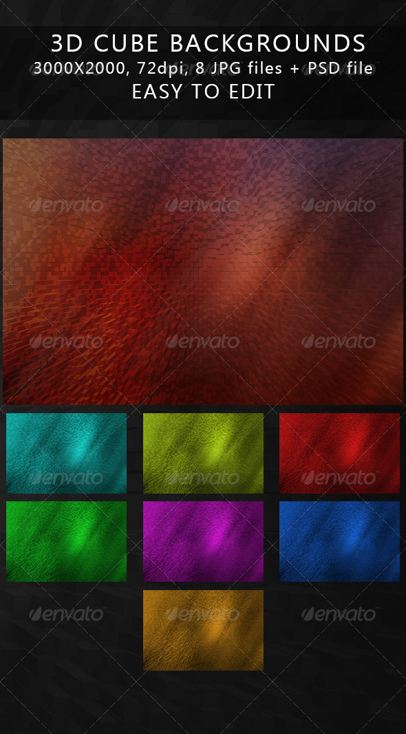 GraphicRiver 3D cube backgrounds 5183342