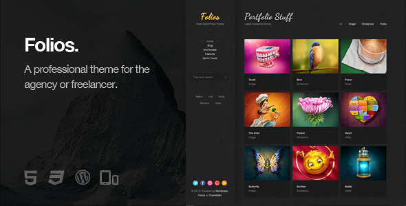 Folios - Responsive WordPress Theme