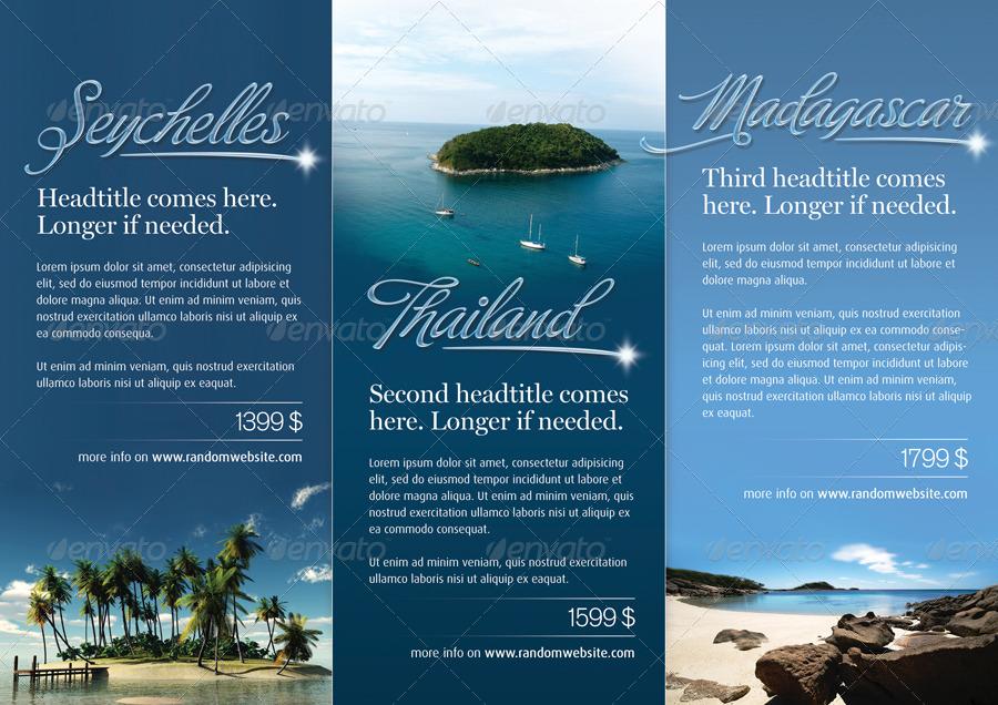 vacation brochure templates - azure trifold brochure by salutovidiu graphicriver