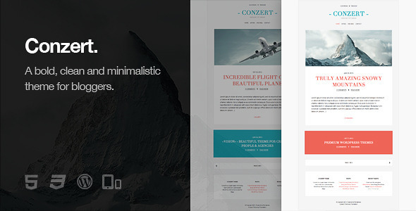 Conzert - Responsive WordPress Theme - Personal Blog / Magazine