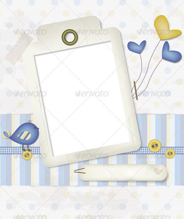 GraphicRiver Baby Scrapbook Background 5184171