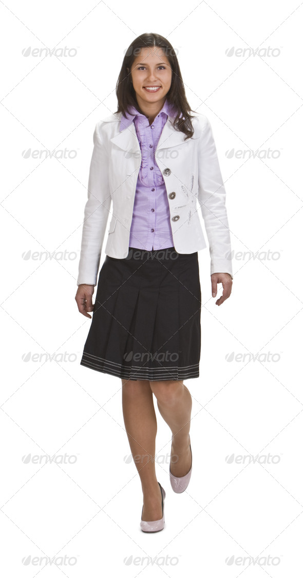 Woman Walking - Stock Photo - Images
