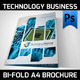 Technology Business Bi-fold A4 Flyer - GraphicRiver Item for Sale