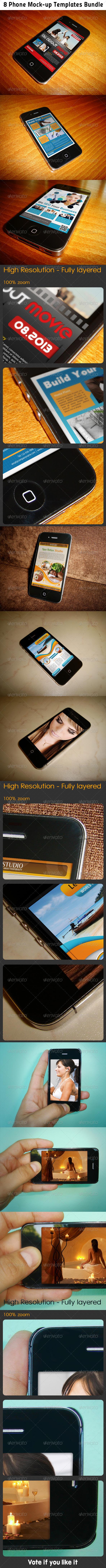 GraphicRiver Phone Mockup Bundle 5176811