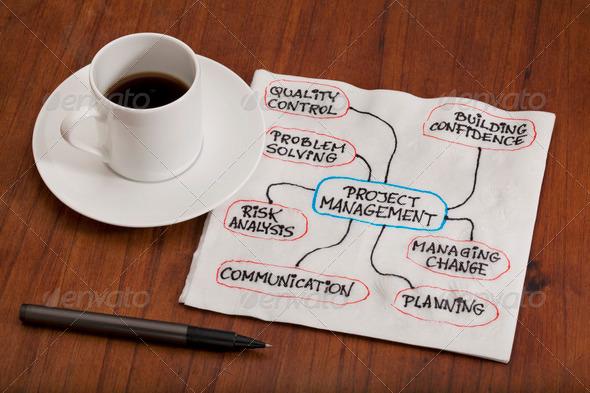 PhotoDune project management concept napkin doodle 540768